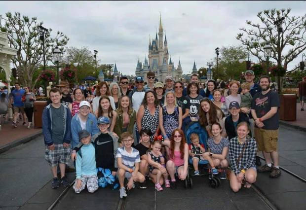 disney world full family photo